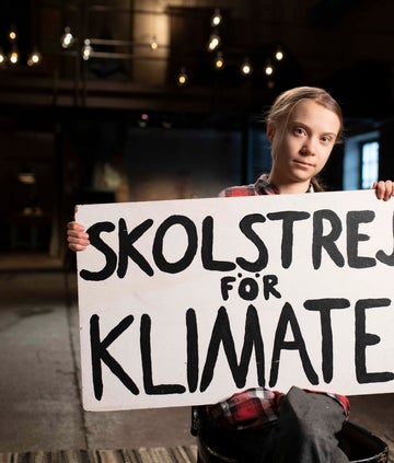School strike for climate (Skolstrejk för klimatet) - Greta