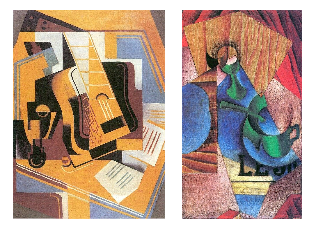 Two cubist paintings by Juan Gris