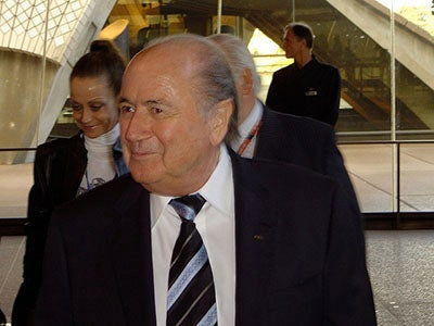 A photograph of Sepp Blatter
