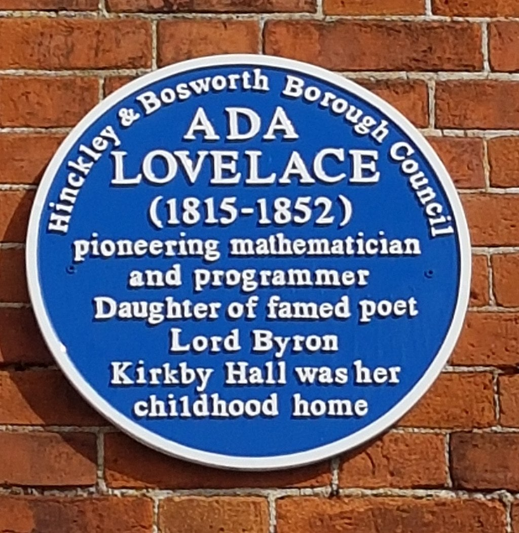 Ada Lovelace - Blue Plaque