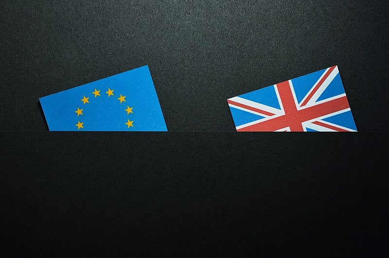Brexit - EU and Union Jack flyers