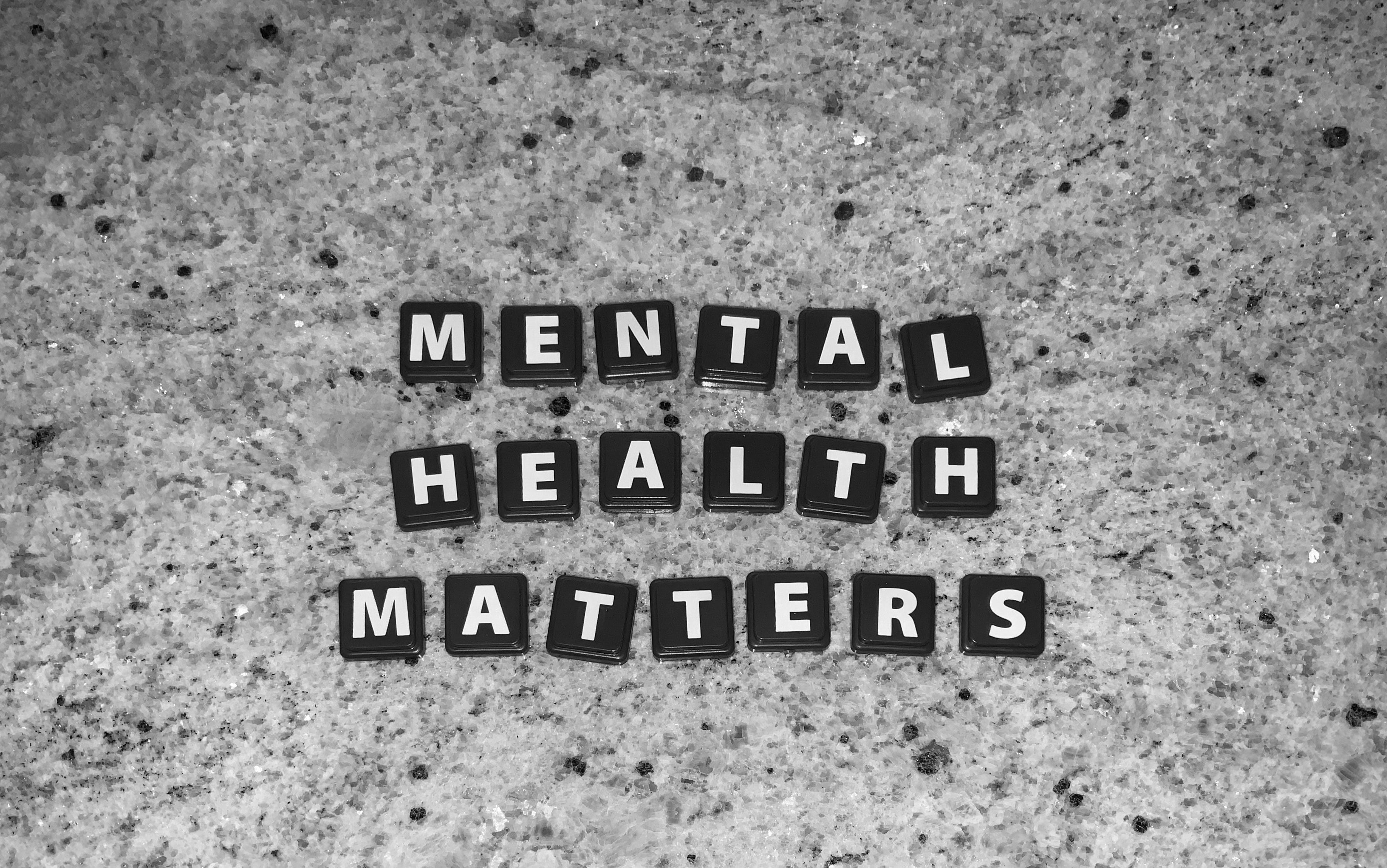 """Letter tiles spell out """"Mental Health Matters"""""""