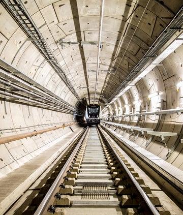 Train in tunnel of Elizabeth Line