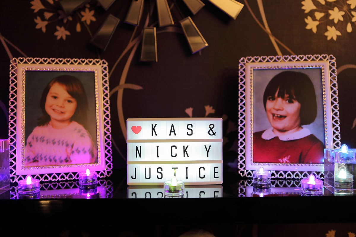A memorial for Kas and Nicky from BBC The Prosecutors - Babes in the wood episode
