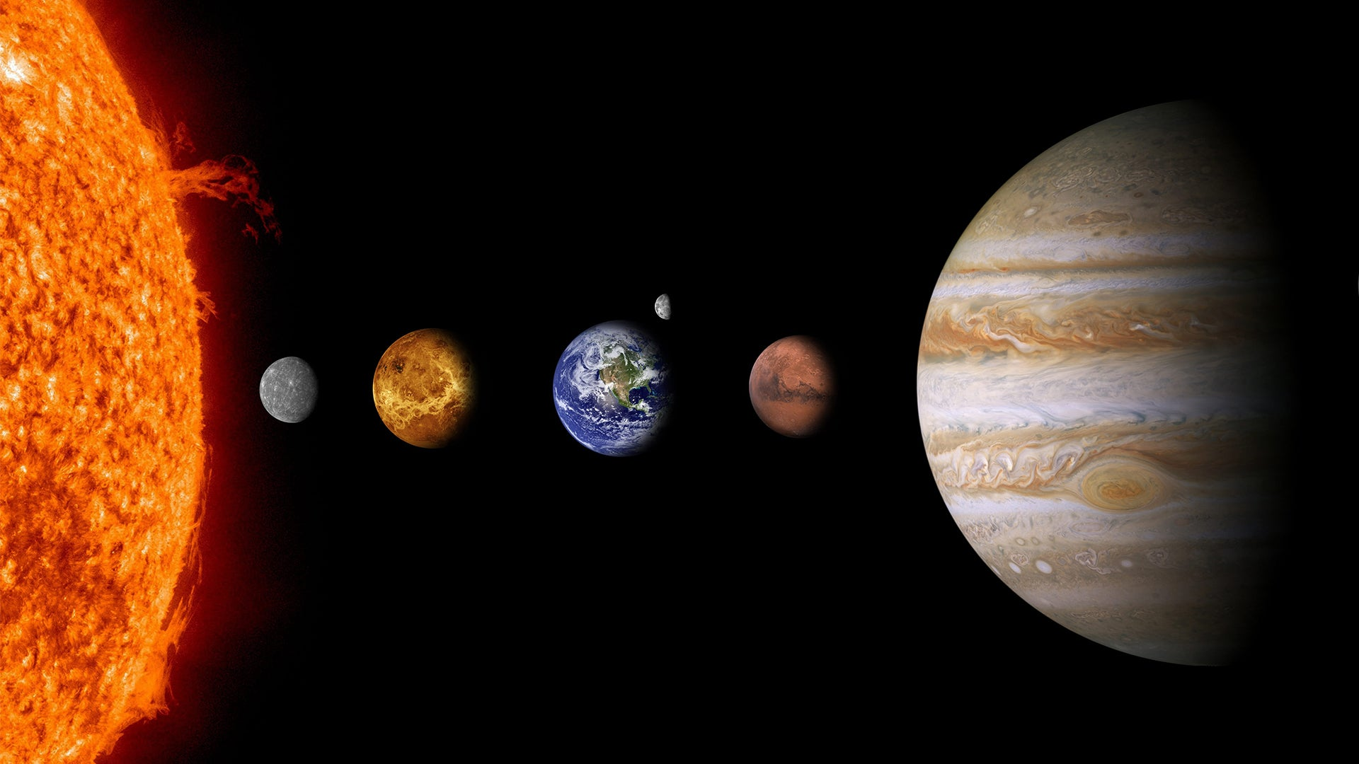 An impressionist view of part of our solar system