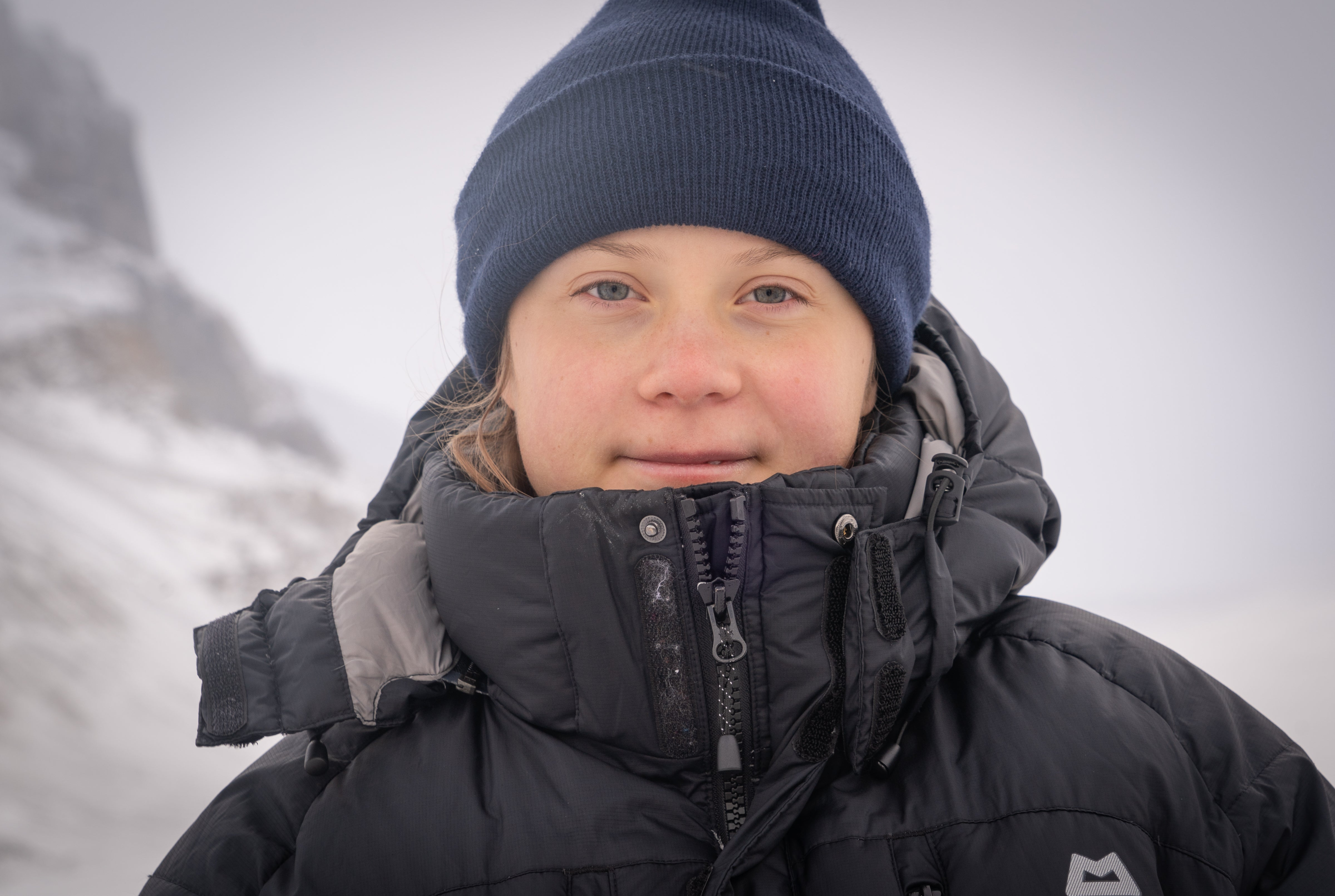 Greta Thunberg on a glacier from - A year so change the world