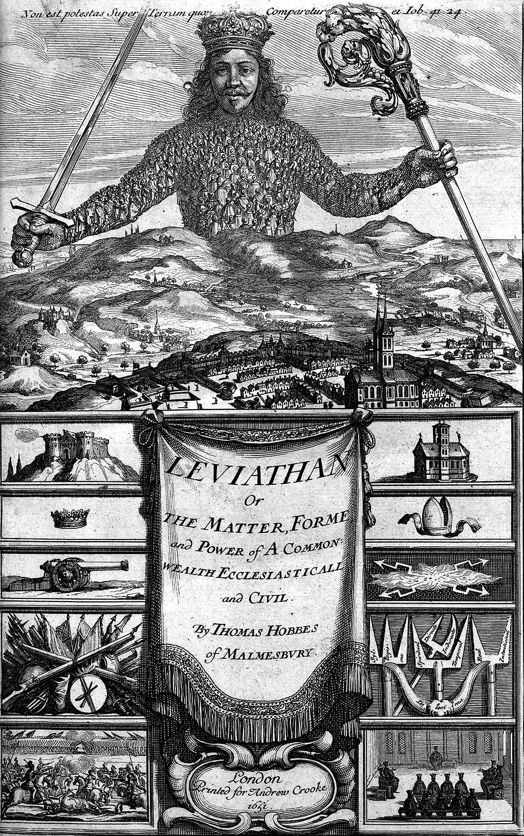 Leviathan pamphlet by Thomas Hobbes