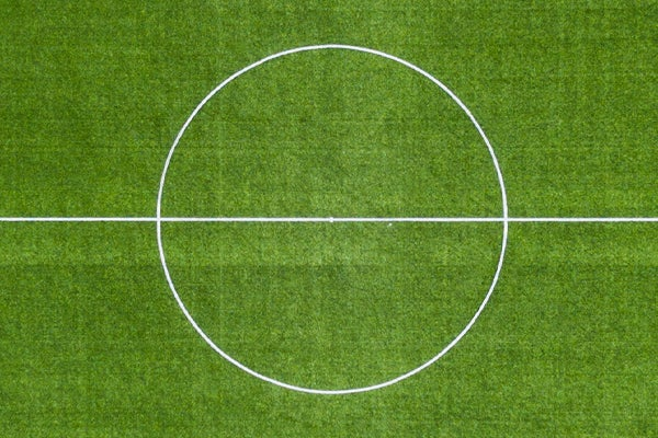 Centre of a football pitch