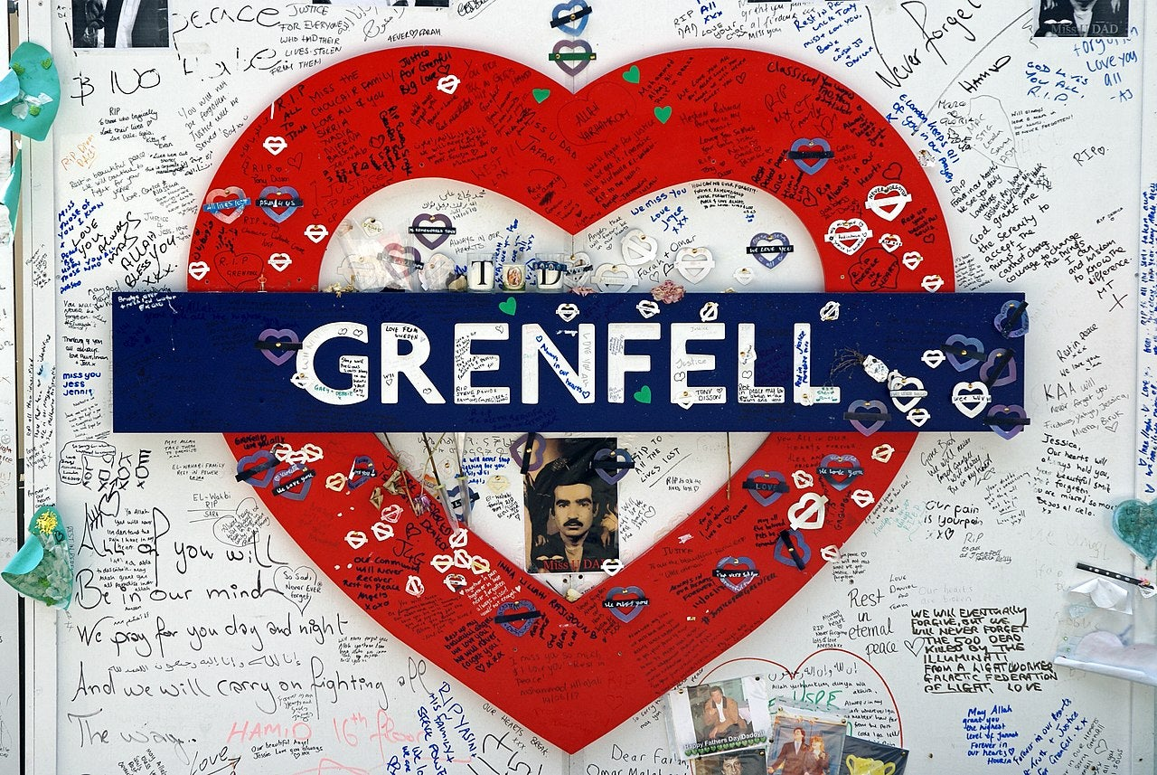 Grenfell Heart tribute memorial