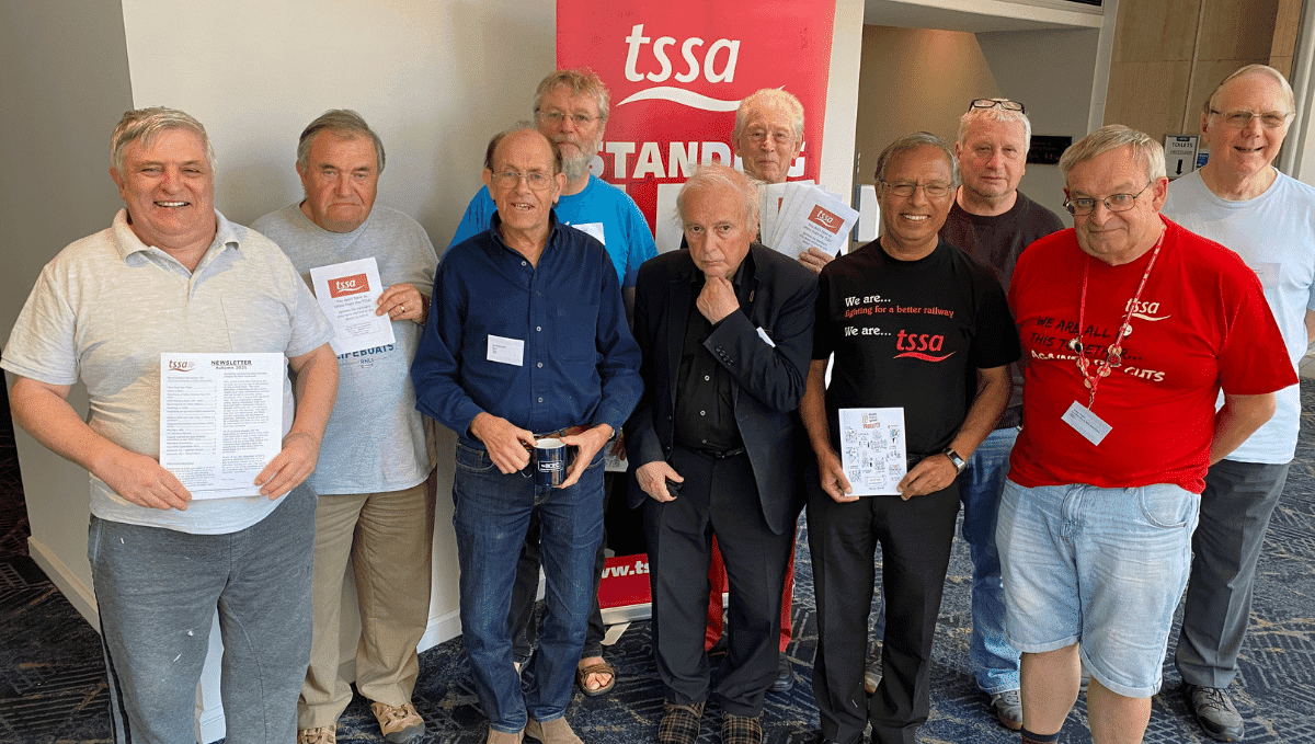 Retired Members Group members at TSSA conference 2021