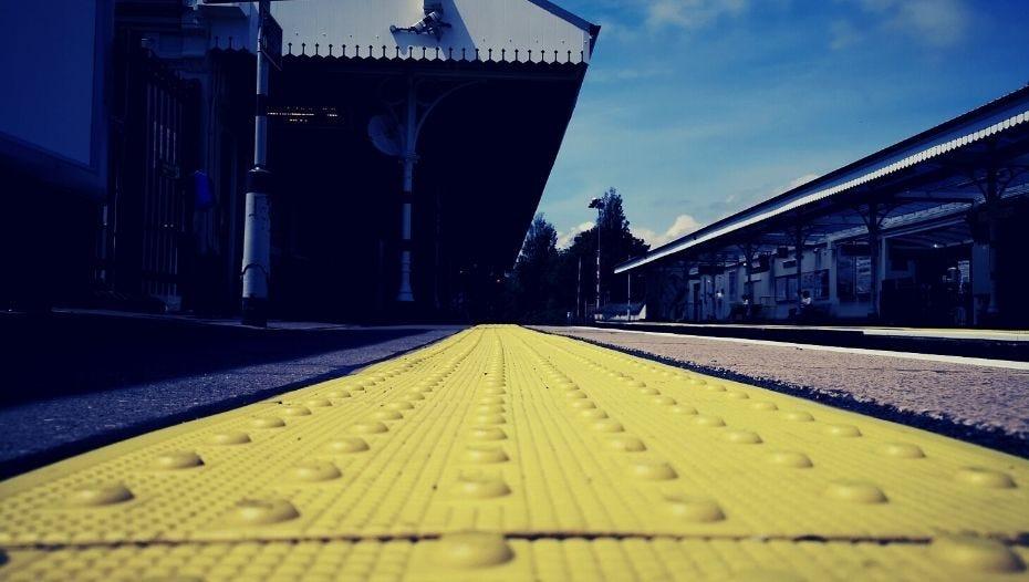 Platform edge at a train station