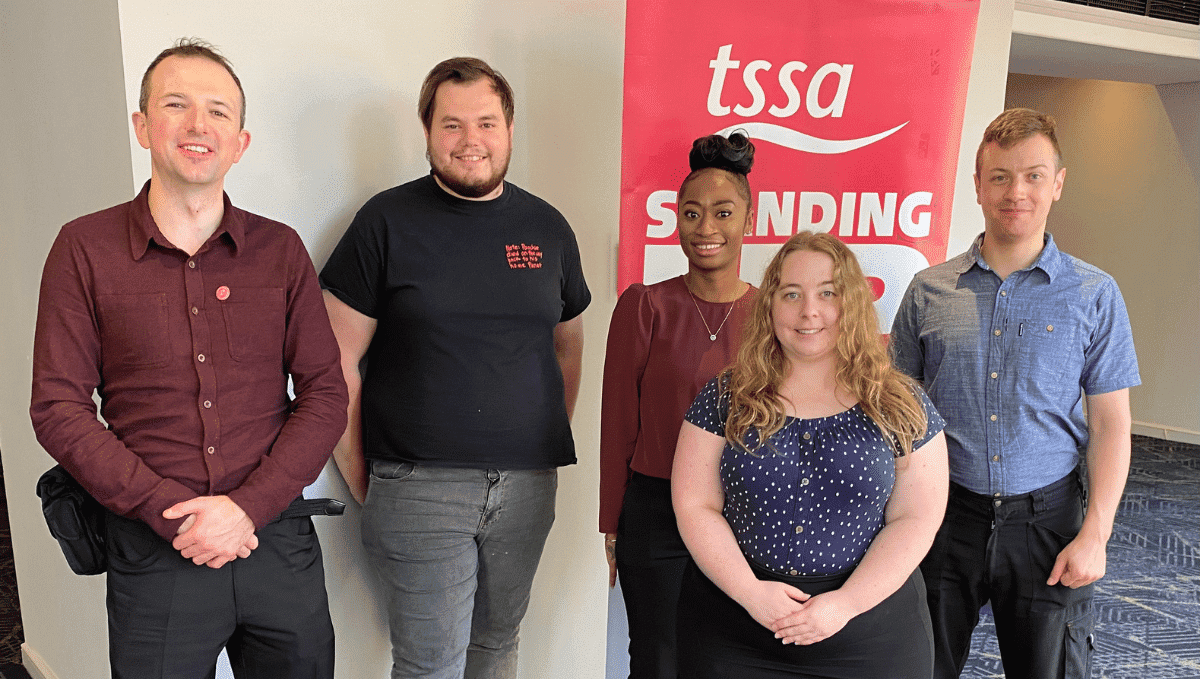 Young TSSA members at conference 2021
