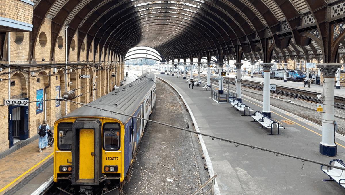 Transpennine Express train at York station