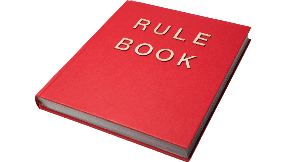 Red rule book image