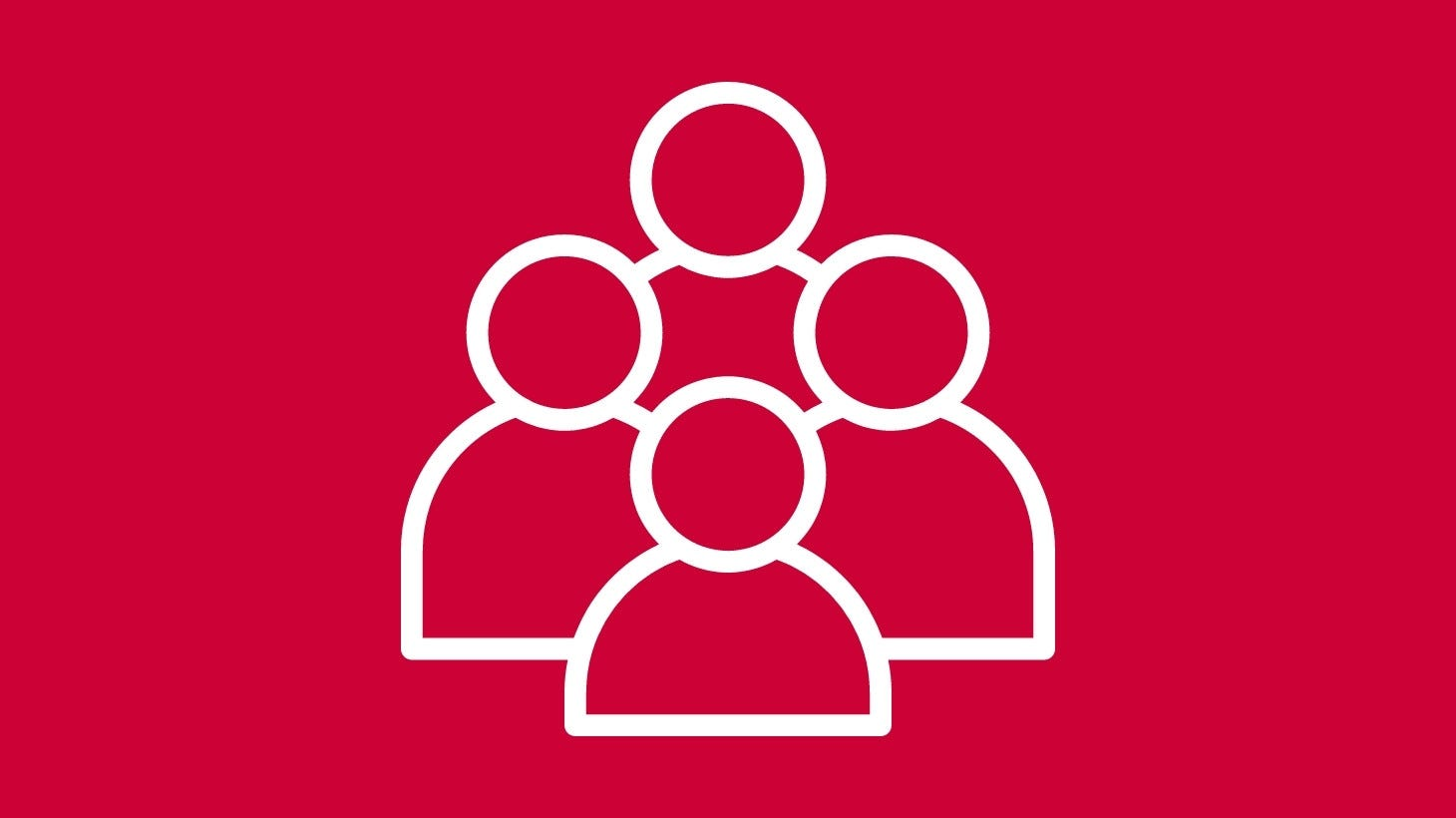 People Icons on red background
