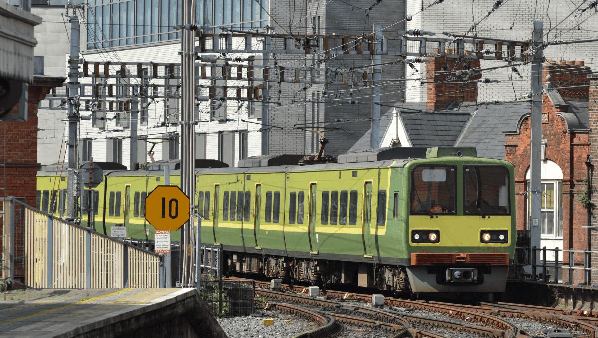 Dublin suburban train