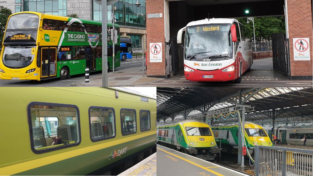 Dublin Bus, Bus Éireann, DART and Iarnród Éireann trains ©Donnacha DeLong