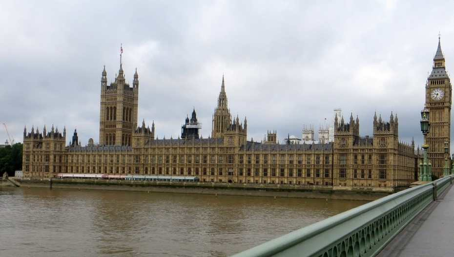 Wide view of Houses of Parliament London