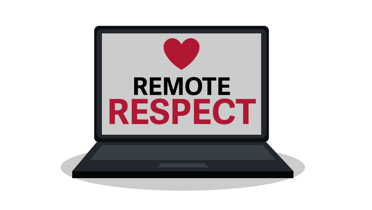 Remote Respect campaign logo showing laptop and heart