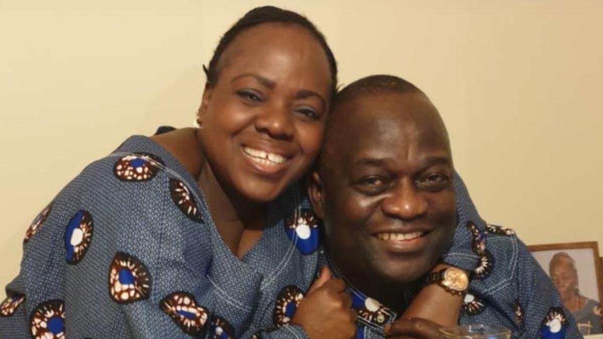 Belly Mujinga smiling with her husband Lusamba