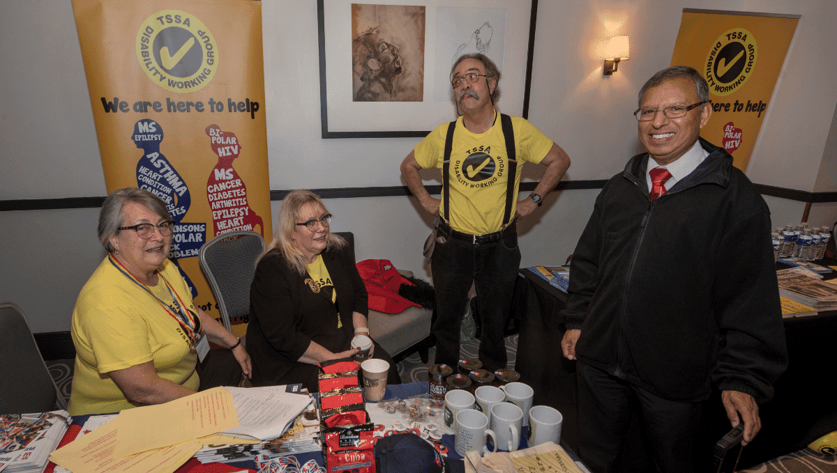 Disability Working Group conference stall with members