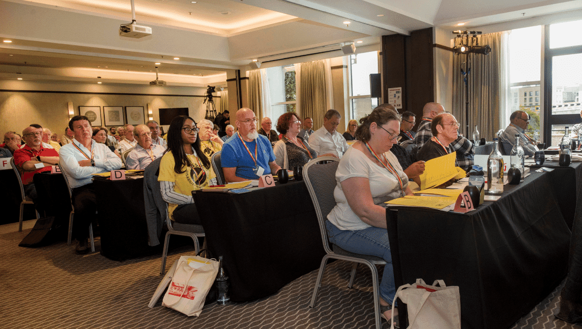 Delegates seated at TSSA conference 2019