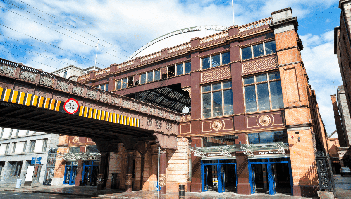 Dublin Pearse railway station and bridge, Dublin, Ireland