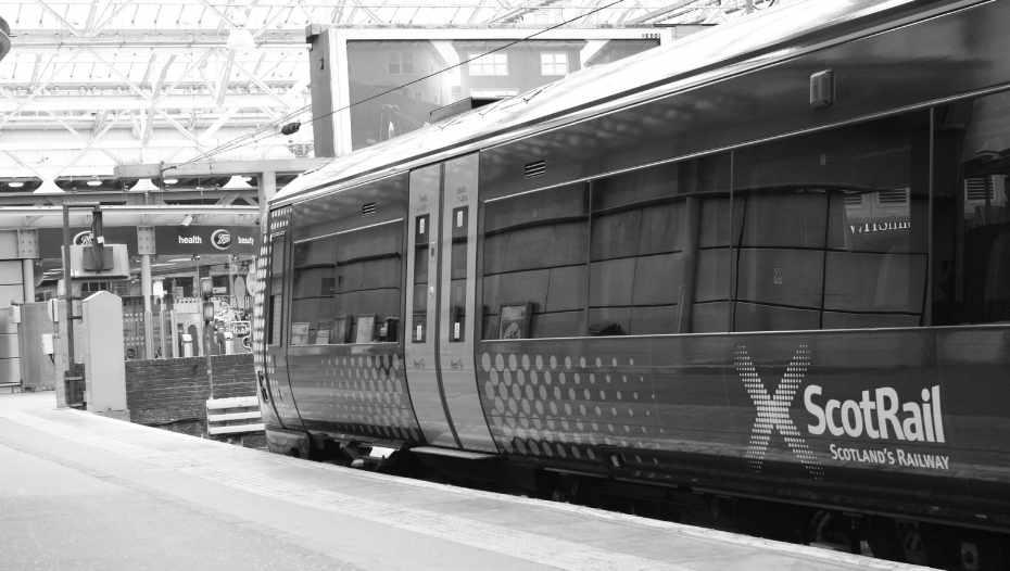Scot Rail train in station
