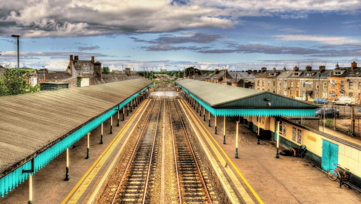 Coleraine railway station, county Londonderry, Northern Ireland