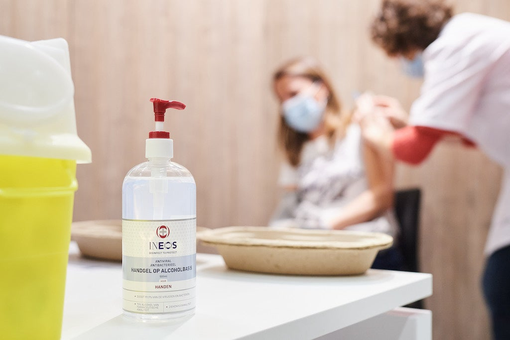 Flemish vaccination centres supplied with INEOS hand sanitisers