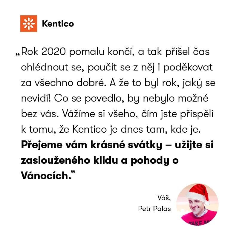 Kentico přání Petr Palas 2020