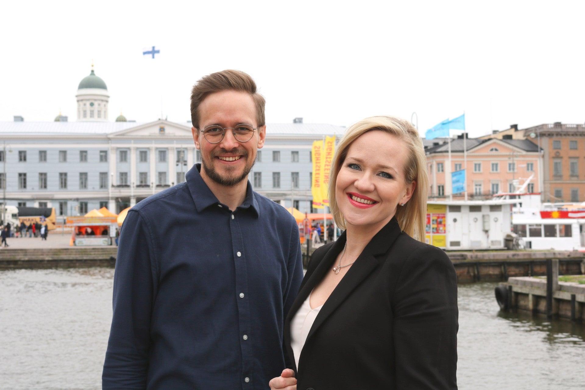 Client Director Tommi Partanen ja Senior Client Director Niina Kattelus