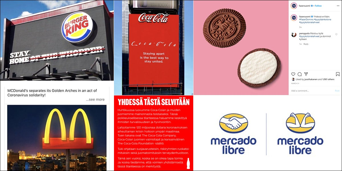 Coca-Cola, Mc Doncald's, Burger King, Mercado ja Ikea