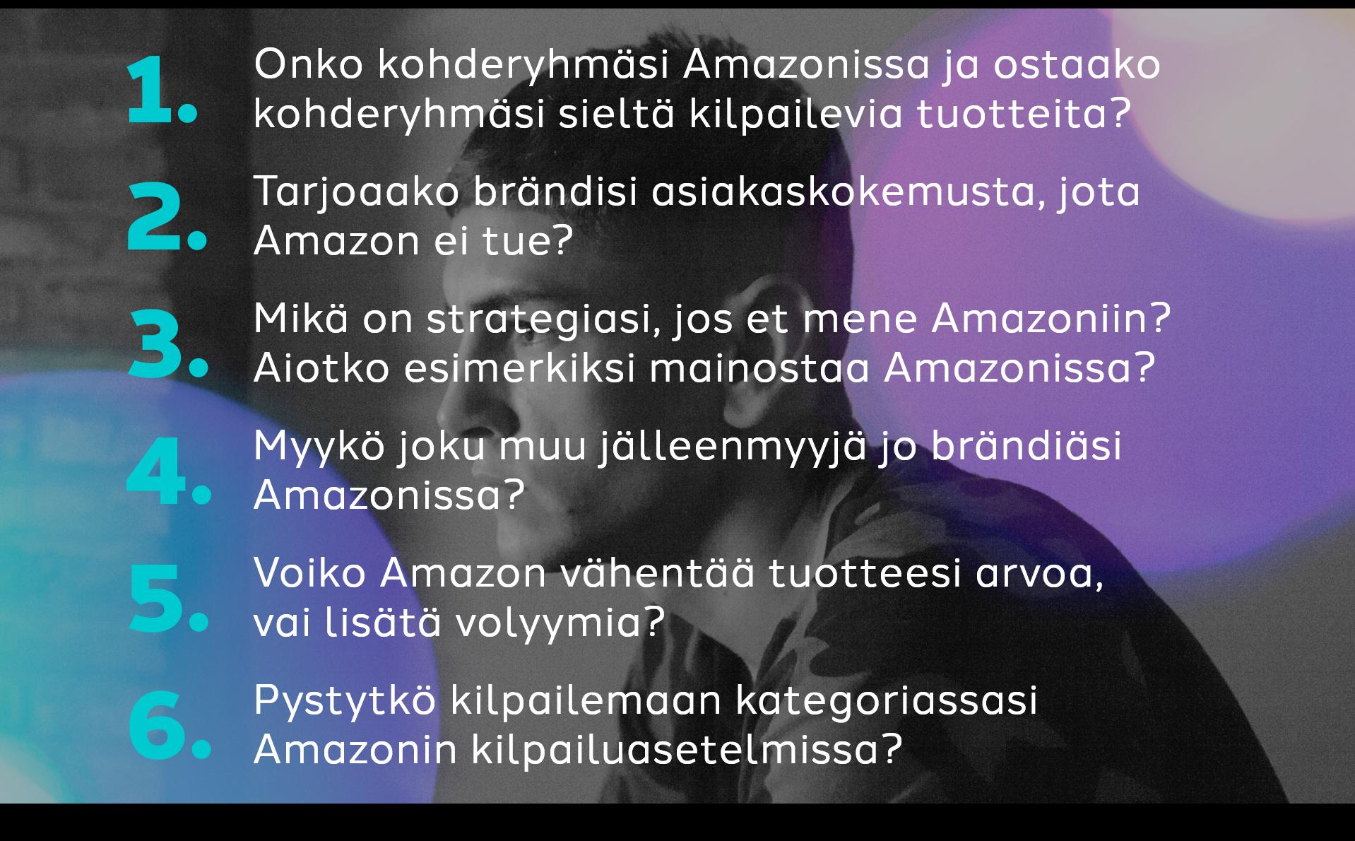 Kuusi kysymystä Amazonista