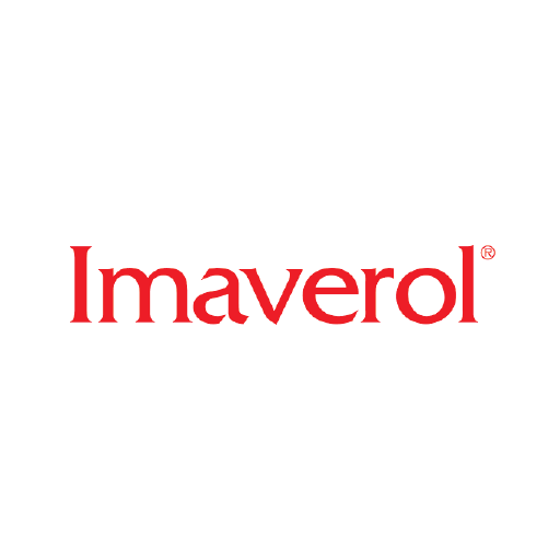 Imaverol logo in red on white.