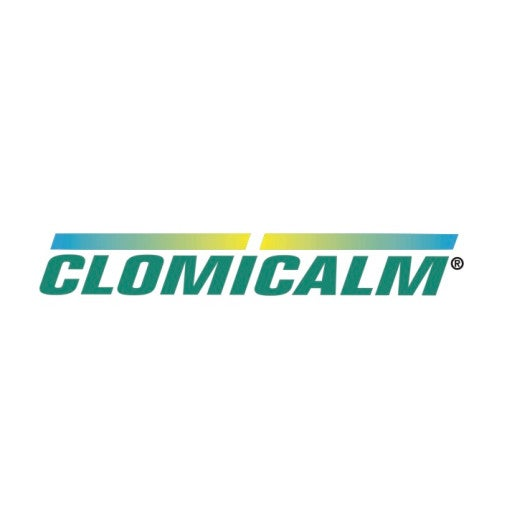 Clomicalm logo on white.