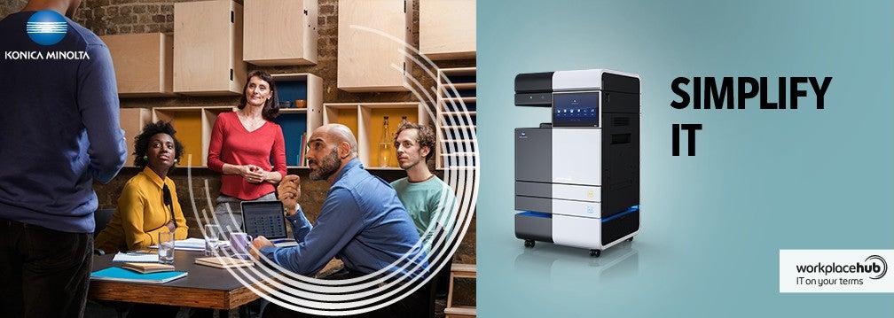 Konica Minolta ofrece un departamento IT completo en tan solo 1 metro cuadrado con su Workplace Hub