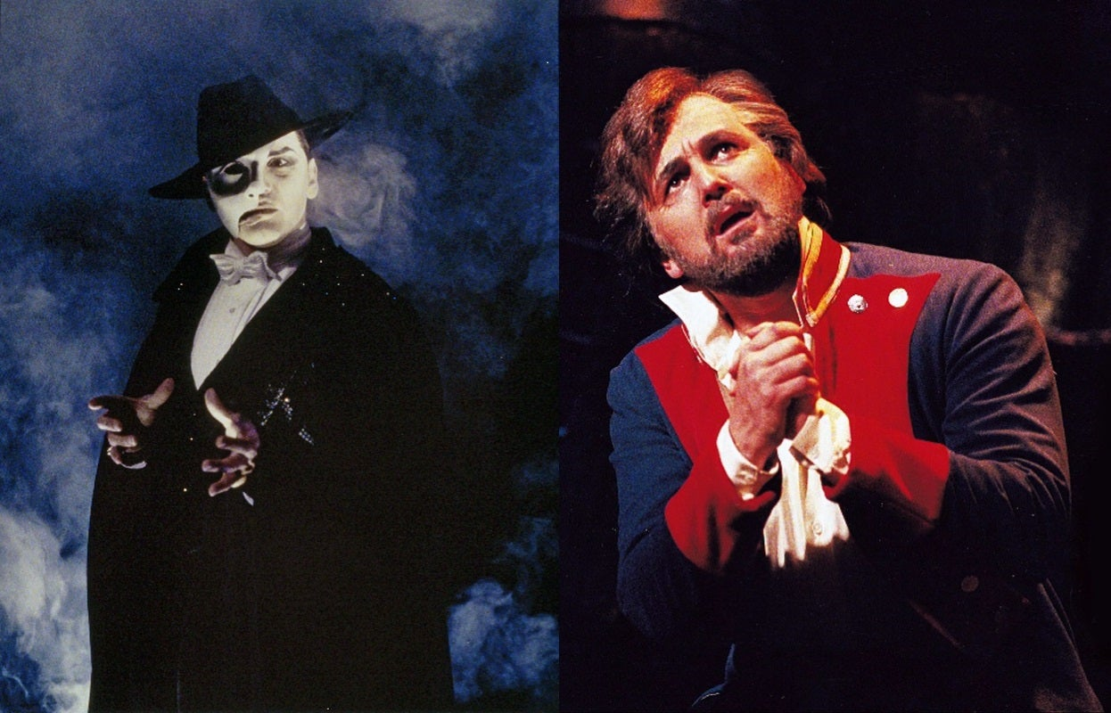 West End star Mike Sterling in two of his most iconic roles
