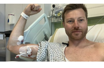 Cancer patient Gareth Smith recovering in Sheffield Royal Hallamshire hospital