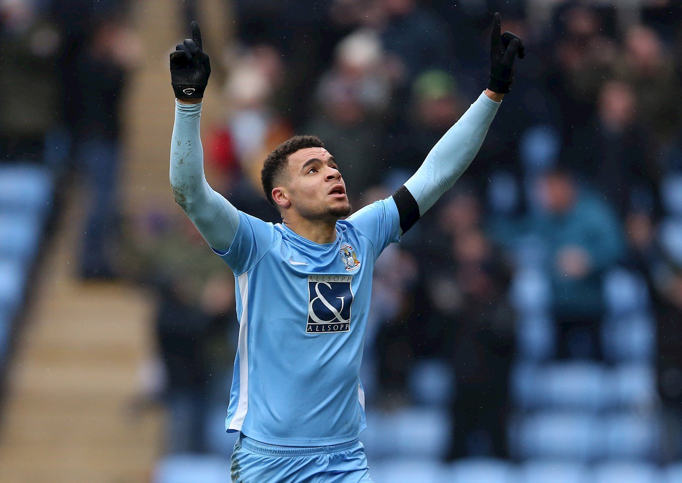 Max Biamou celebrated first league goal for Coventry City