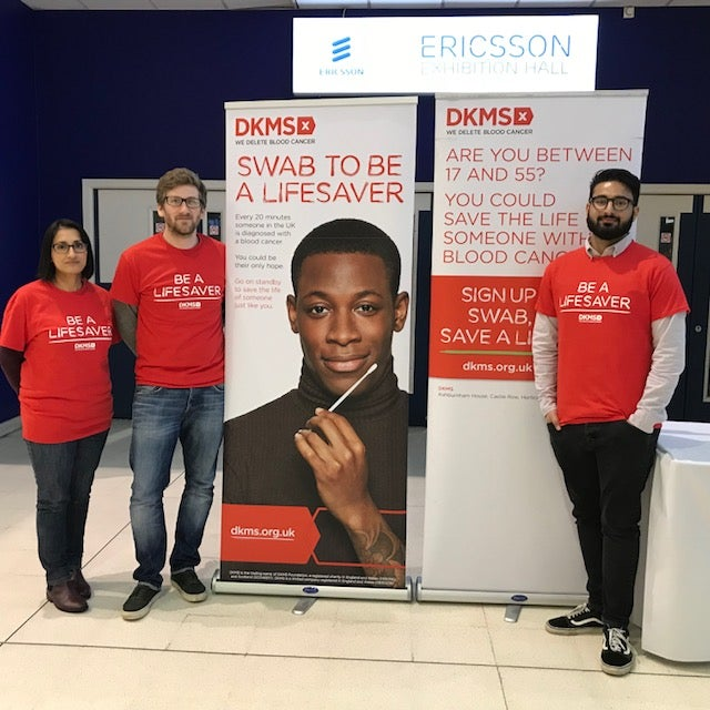 DKMS volunteers at Coventry City Football Club