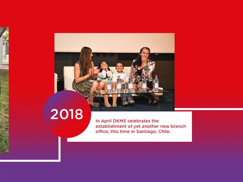 In 2018, DKMS opened an office in Chile.