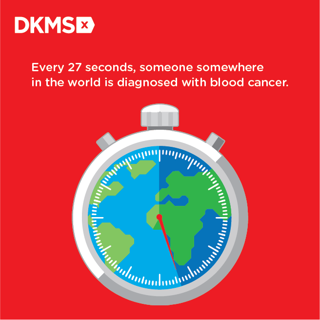 Every 27 seconds, someone somewhere in the world is diagnosed with blood cancer.
