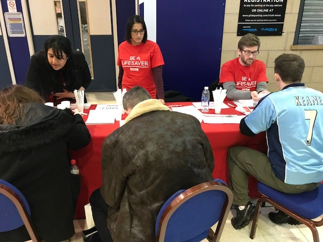 DKMS volunteers and potential lifesavers at Coventry City FC