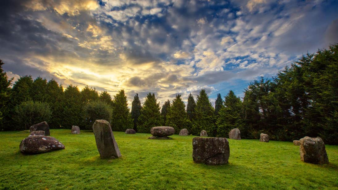 Sunset at Kenmare Stone Circle, Kerry
