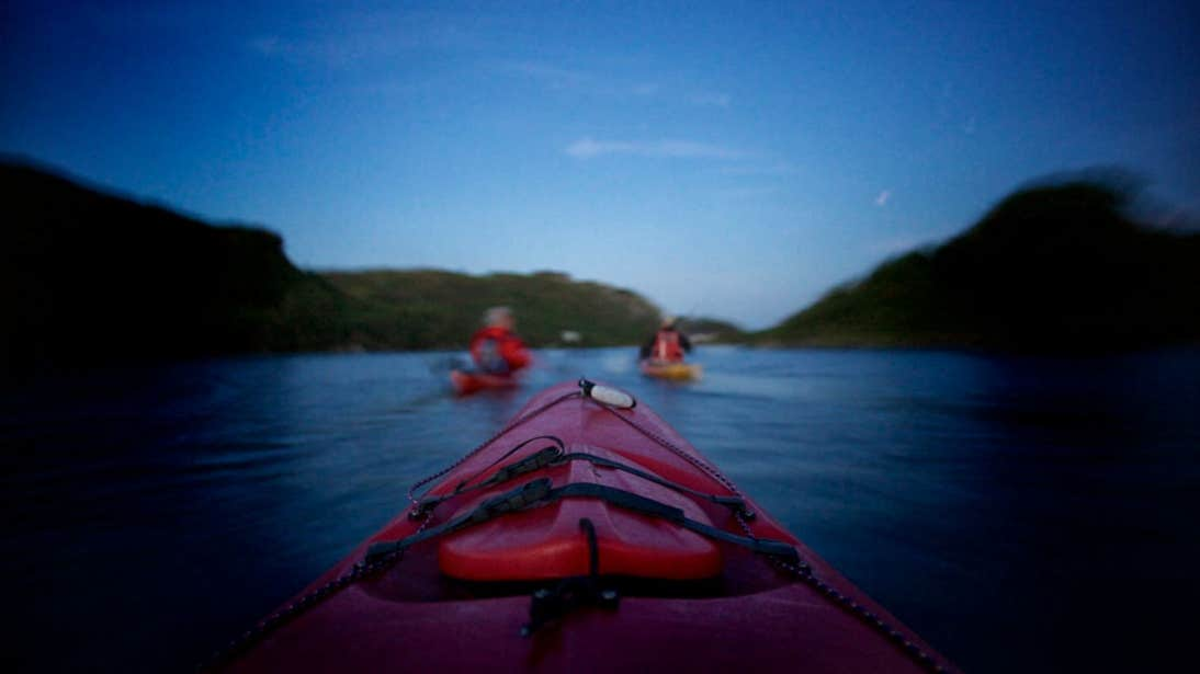 Kayaking at night on Lough Hyne in County Cork