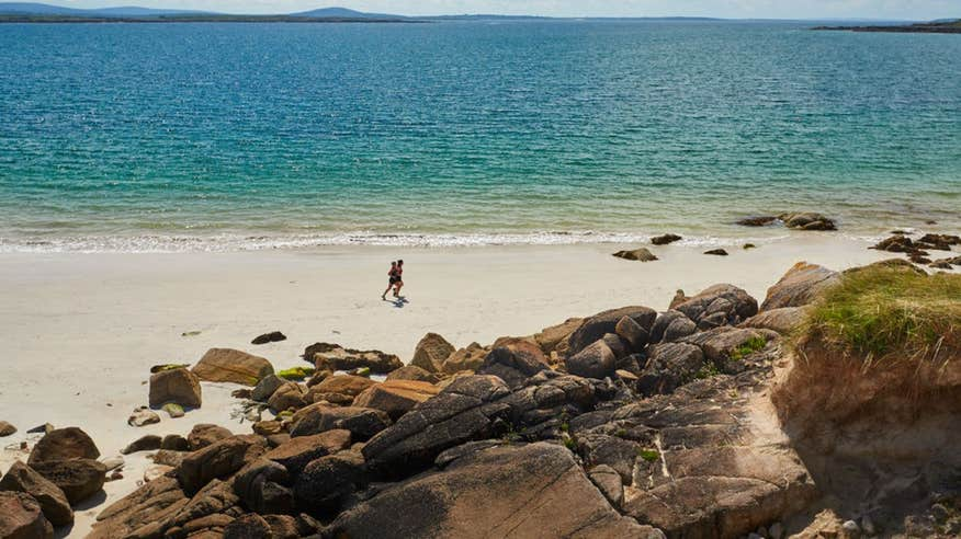 Escape to the quiet and calm of Gurteen Beach in Galway.
