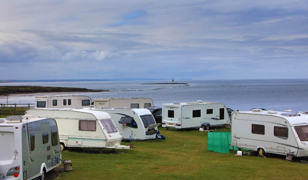 Mobile homes parked at Rosses Point Caravan Park in Sligo.