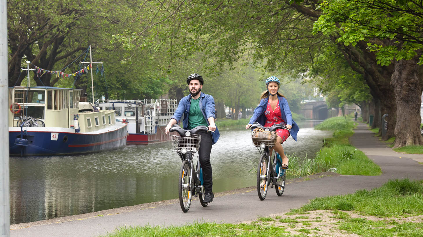Hire a bike and travel around the city.