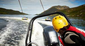 Image of speed boating